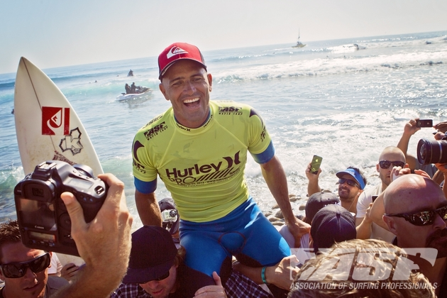 The victory marked Kelly Slater\'s 50th Tour win.