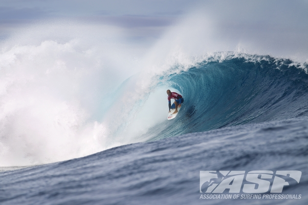 Kelly heeded the call as the Volcom Pro Fiji delivered pumping surf. Photo: ASP
