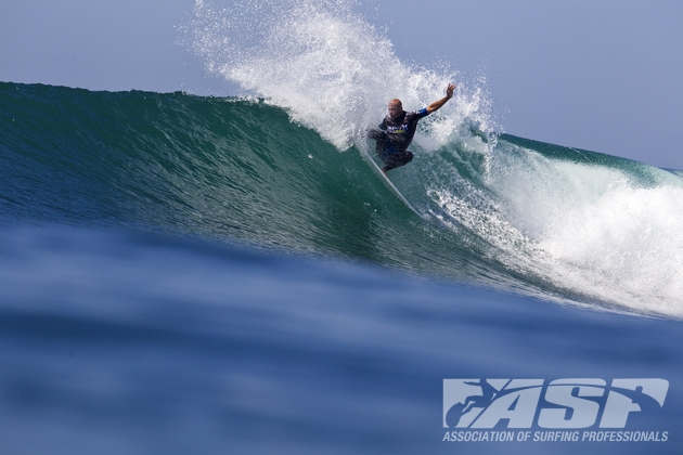 The Tour migrated to Southern California, where Kelly Slater went to work. Photo: ASP