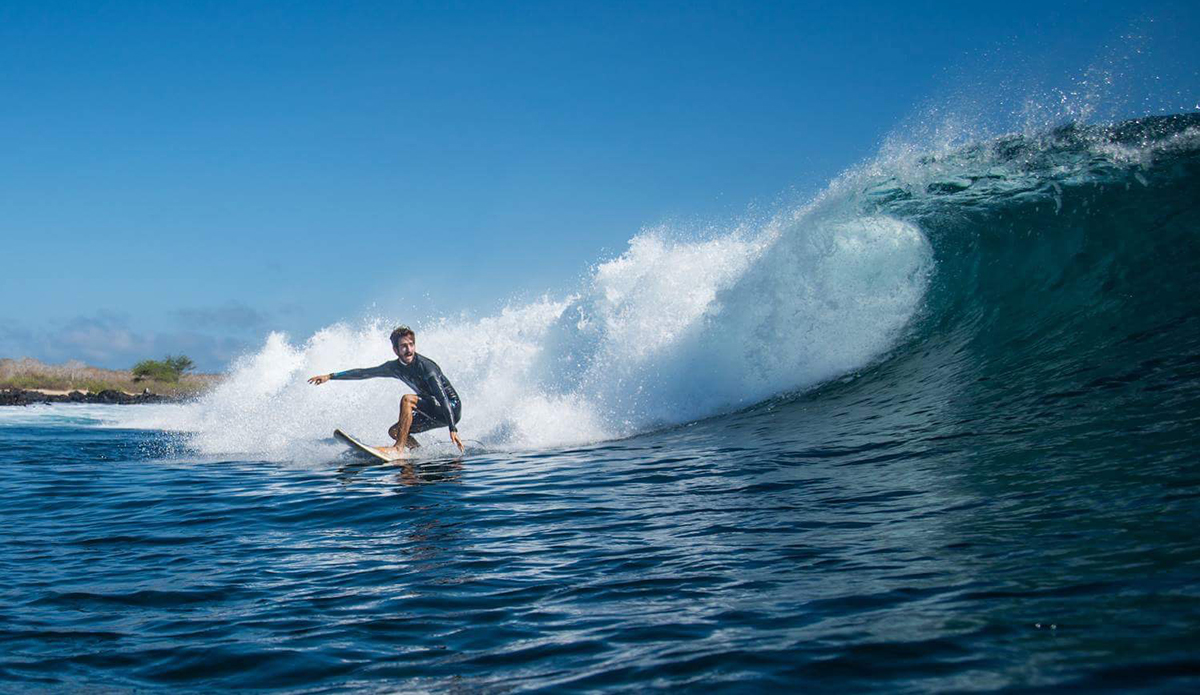 Toto Idrovo one of the best known local surfers in San Cristobal. Photo: Maria Fernanda