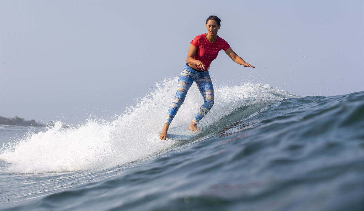 Surf legend Kassia Meador surfed her way into second place with poise, great wave selection and smooth surfing. Keoki Saguibo