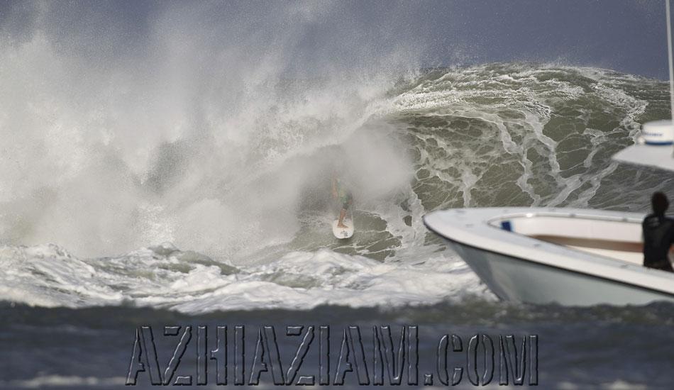"Shea Lopez spit from the beast. <b>Photo:</b> <a href=\""http://azhiaziam.mybigcommerce.com/\"" target=_blank>Mike Jones</a>"