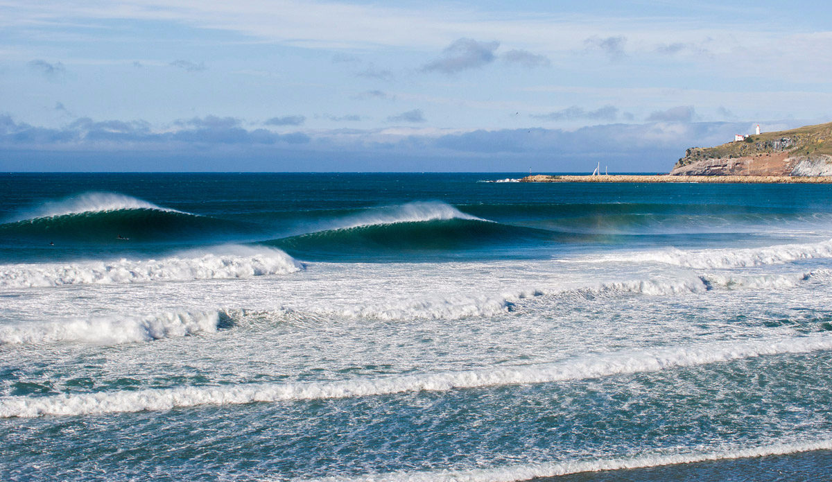 "The area around Dunedin in the bottom of the South Island has ridiculously good waves. And it's super consistent, there's always swell on tap. If it wasn't so stupidly cold I'd move there tomorrow.  Photo: <a href=""http://www.rambo-estrada.com\"">Rambo Estrada</a>"