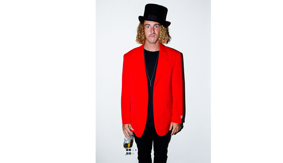 """1; Australian Shredder and larrikin Matt Wilkinson seen here at the ASP Banquet on the Gold Coast earlier this year. A funny bloke who loves to dress up in Quirky outfits. Photo: <a href=\""""http://www.natesmithphoto.com/\"""" target=\""""_blank\"""" title=\""""Nate Smith Surf Photos\"""">Nate Smith</a>"""