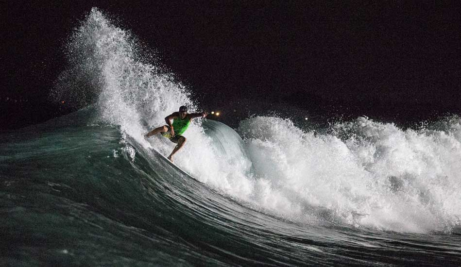 """Seabass was on fire all event. Even at night. Photo: <a href= \""""http://www.oakleyprobali.com/photos/\"""">Russ Hennings</a>"""