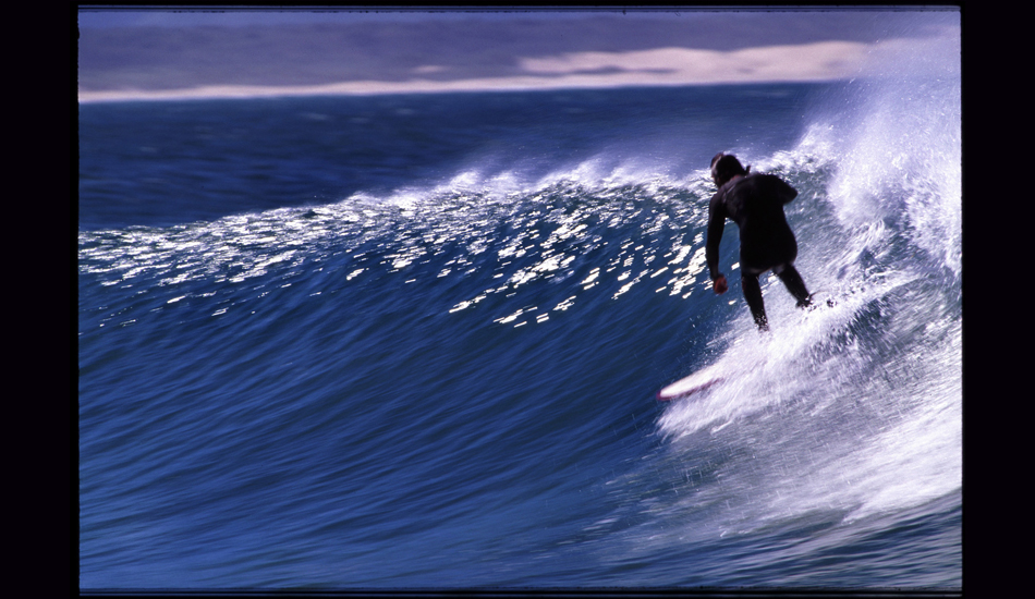 "This is Jon Kitamura at J-Bay on a little Andreini Hull. Jon is one of the most stylish surfers I\'ve met, the trim master on anything but three fins. Image: <a href=""http://www.paulferraris.com/\"" target=\""_blank\"">Ferraris</a>"