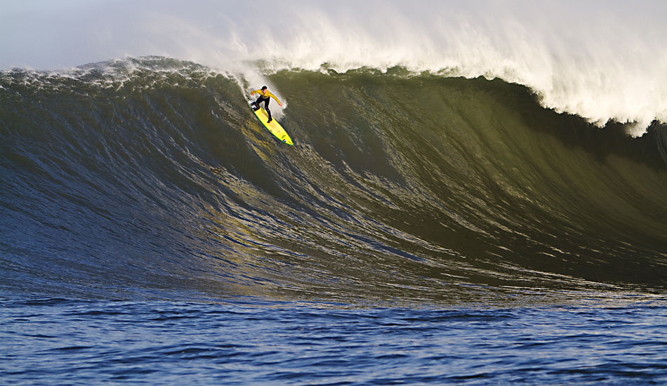 "Local HMB/Mavericks legend Ion Banner during the 2010 Mavericks Contest. Photo: <a href=""http://instagram.com/migdailphoto\""> Seth Migdail</a>"