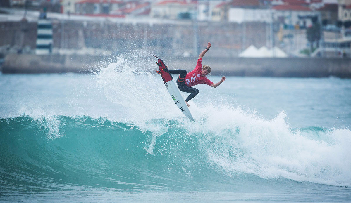 rip curl pro surfing portugal