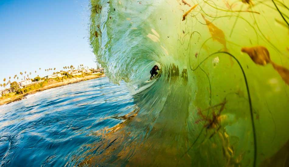 "Kelp dodging in San Diego. Photo: <a href=\""http://anthonyghigliaprints.com/\"" target=_blank>Anthony Ghiglia</a>"