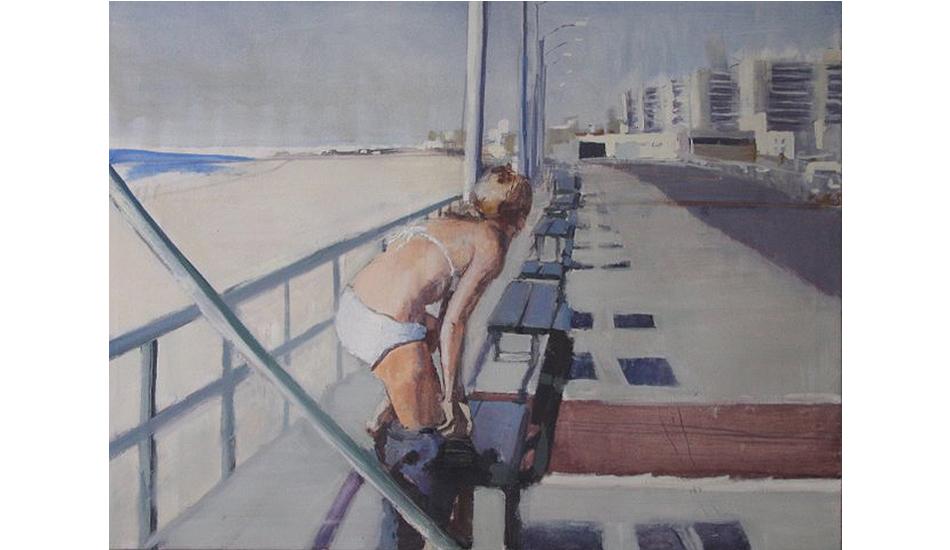 Changing on boardwalk by Lynn Grayson.