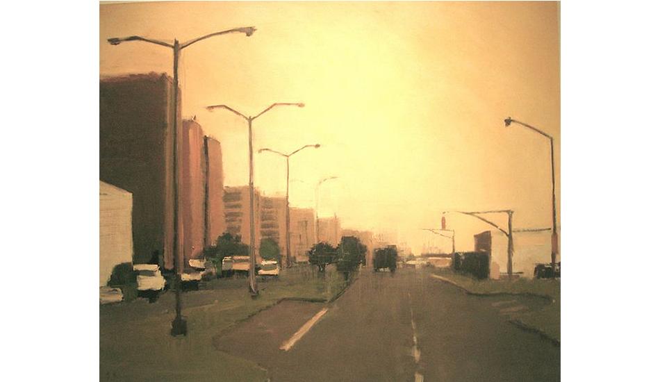 New York hazy street by Lynn Grayson.