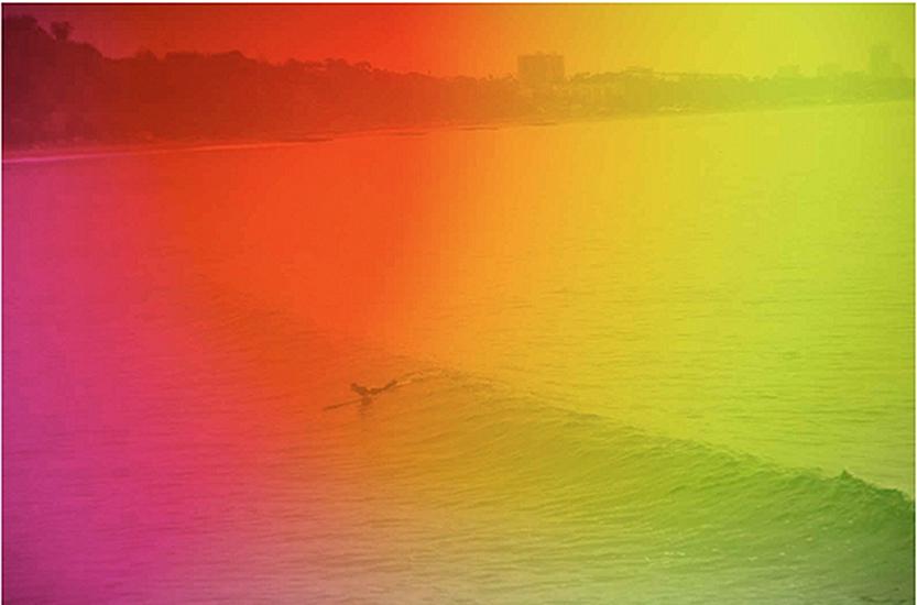 Horizon swell by Warren Niedich, 2012. Pigment print.