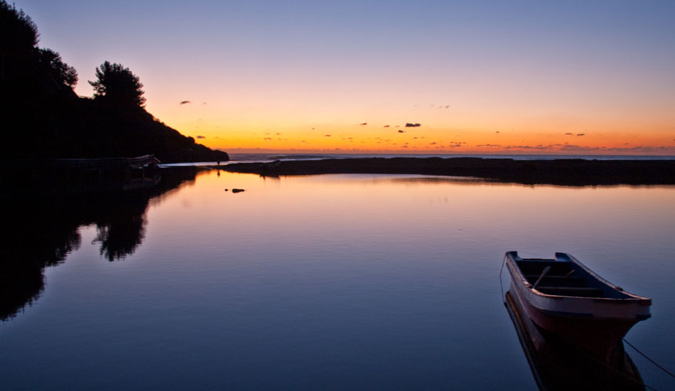 Tranquility at dusk in Southern Chile point land. Photo: Rusty Long