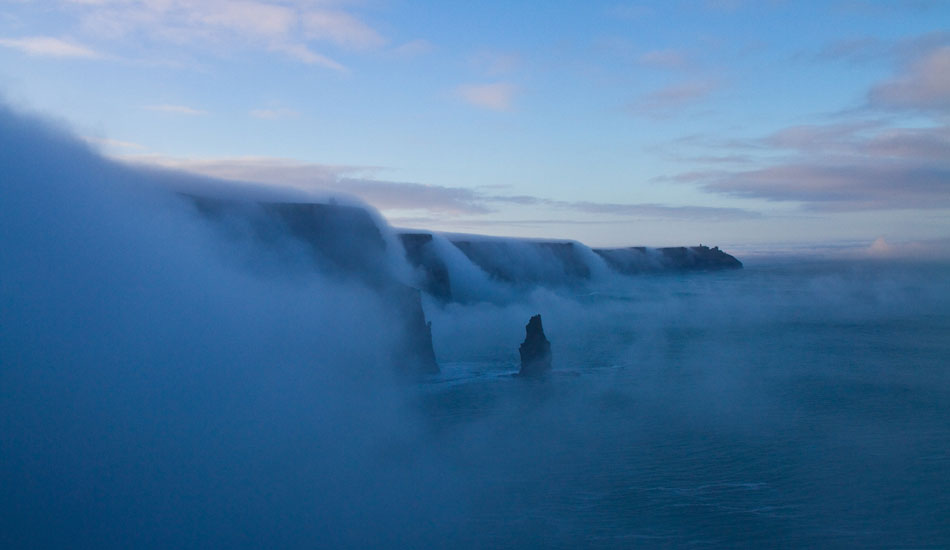 Fog cascading in slow motion off the Cliffs of Moher in West Ireland. This was breathtaking. Photo: Rusty Long