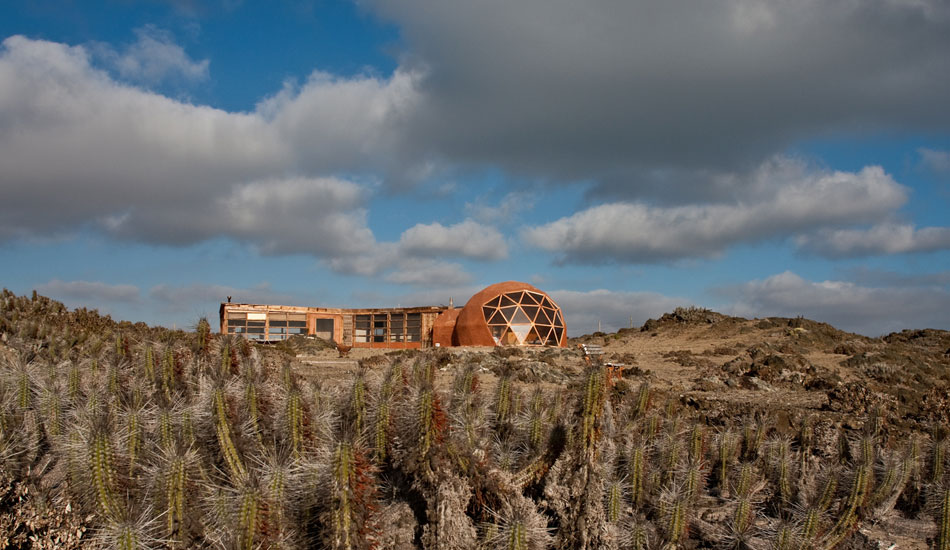 My friend Felipe's house in a remote part of the Atacama Desert in Chile.  Meteorites are a big interest of his and he searches for them in the high desert there, and thus, inspired his awesome house.  Photo: Rusty Long