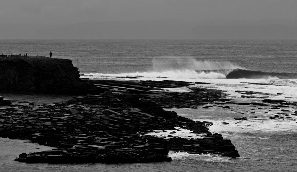 This is a very beautiful, yet unforgiving wave in Scotland.    Photo: Rusty Long