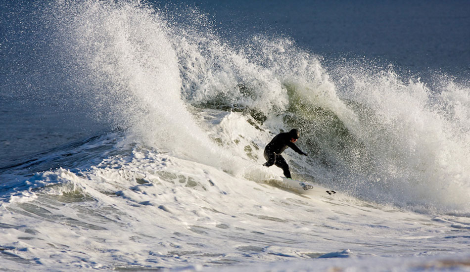 "Sam Hammer hacking away at the snowy lip. Photo:<a href=""http://ryanmackphoto.blogspot.com/\"" target=_blank>Ryan Mack</a>."