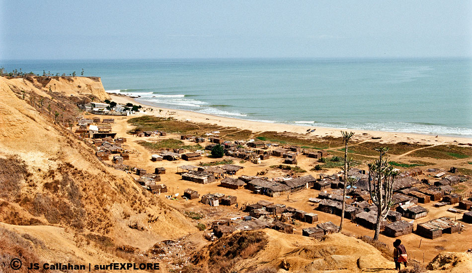 "Angola. Should the government actually decide to do something to help subsistence fishermen, points like this lefthander in Angola could be wiped out by harbour developments. Photo: Callahan/<a href=""http://www.facebook.com/pages/SurfEXPLORE/153813754645965\"" target=_blank>SurfExplore</a>"