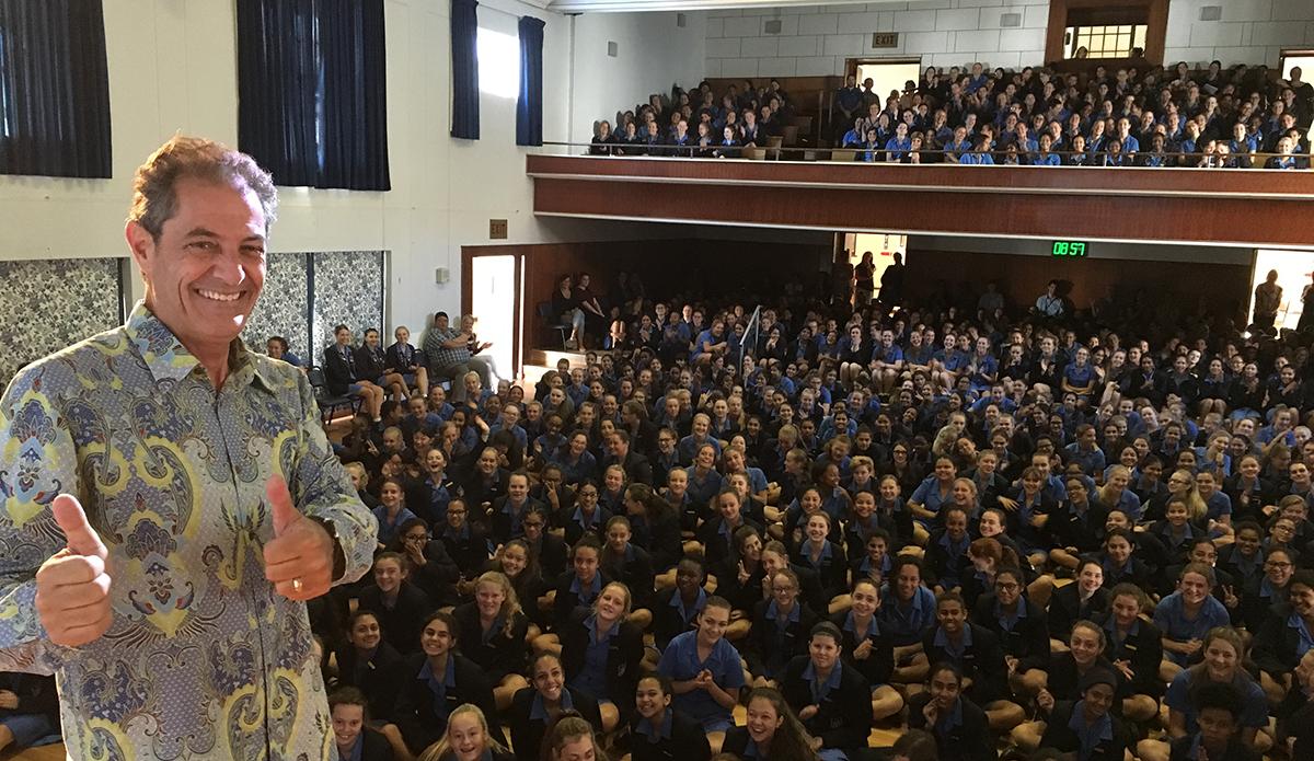 Tomson at Rustenburg High, an all girls school.