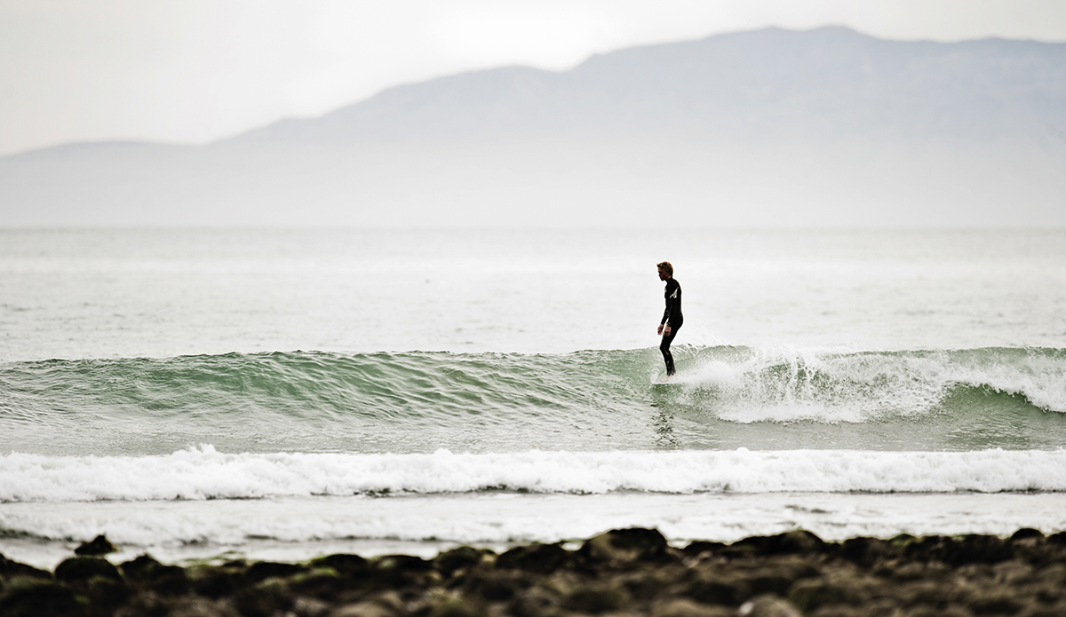 Unknown surfer, Rincon, Fall 2009.  Photo: Sheldon Magner