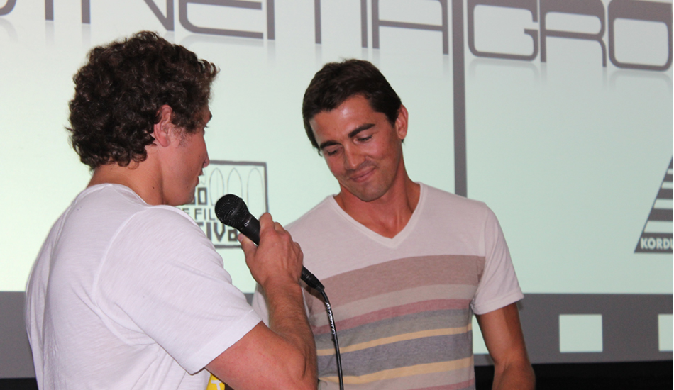 Greg was nice enough to come up and answer some questions from the crowd after the premiere. Photo: Green