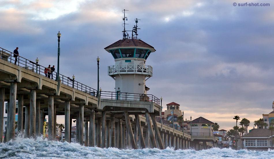 "My view of the Huntington Beach Pier. Photo: Schmid/<a href=\""http://surf-shot.com/\"" target=\""_blank\"">Surf-Shot.com</a>"