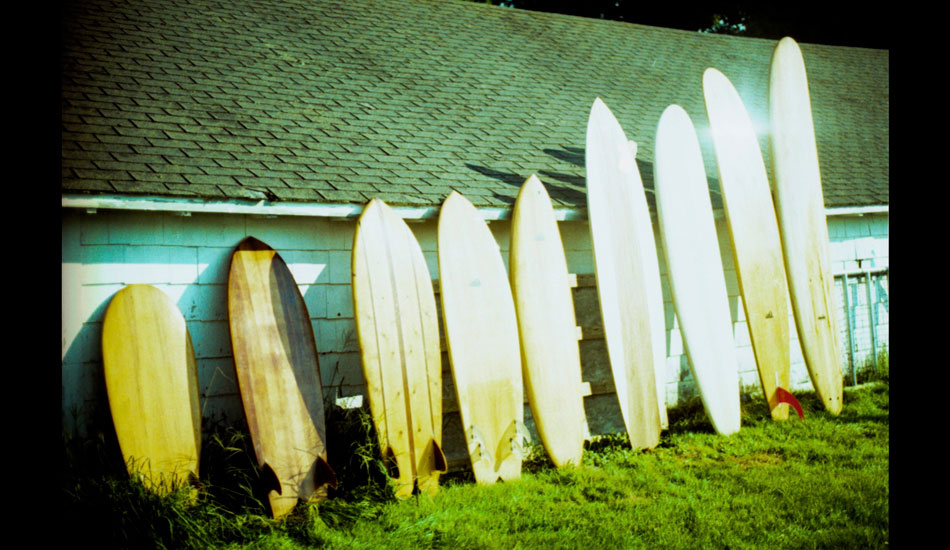 "One of the most interesting quivers you\'ll ever see from <a href=""http://www.grainsurfboards.com/boards/\"" target=_blank>Grain Surfboards</a>. Photo: <a href=\""http://www.ryantatar.com\"" target=\""_blank\"">Ryan Tatar.</a>"