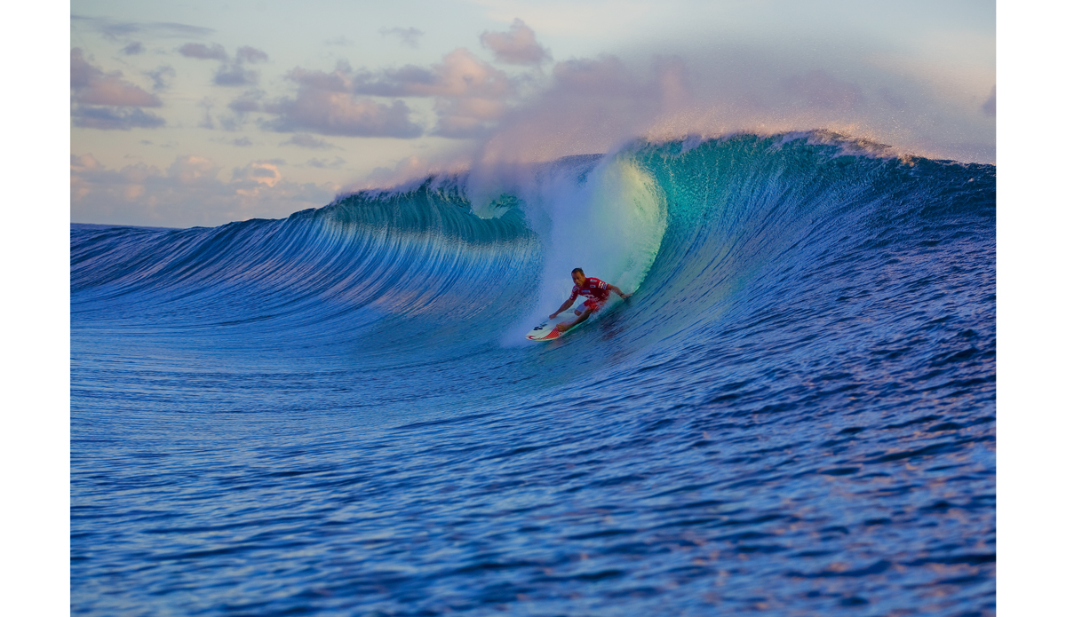"Taylor Knox at the Billabong Pro Tahiti in 2008. Photo: © ASP/ <a href=\""http://www.kirstinscholtz.com/\"">Kirstin</a>"