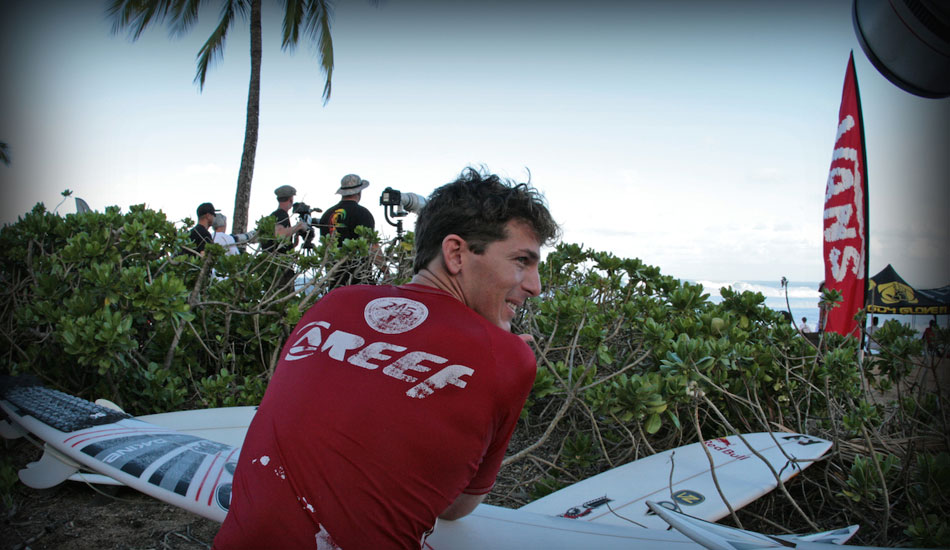 "Andy Irons looking on. Photo: <a href=""http://tupat.posterous.com/never-forget-always-remember-the-king-andy-ir\"" target=_blank>Patrick Eichstaedt</a>."