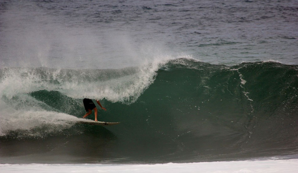 Flynn Novak doing his best headless horseman. Photo: Phil LeRoy