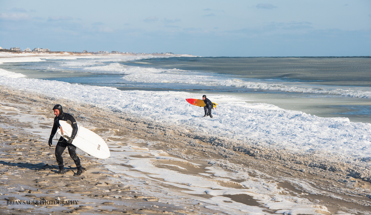 """Neal and Mark, post-surf and ready to thaw out. Photo: <a href=\""""http://www.briansagerphotography.com\"""">Brian Sager</a>"""