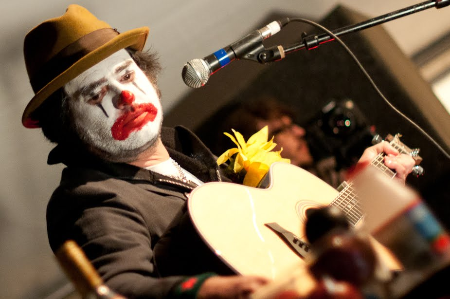 NOFX's Fat Mike as Cokie the Clown during a performance to remember at Emo's.