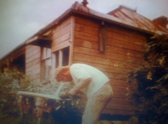 "David ""Baddy"" Trealor, Yamba farmhouse, Circa 1970. Photo: Barlo"