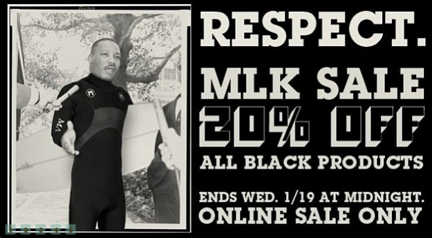 Thalia Surf's Martin Luther King Day Sale Ad.