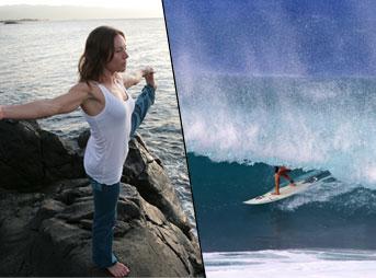 Rochelle Ballard Yoga Surfing