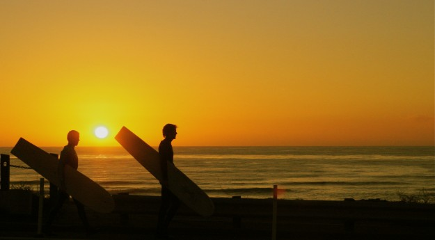 Sunset Alaia Surfers