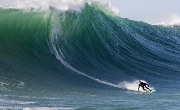 Jeff Clark surfs Maverick's
