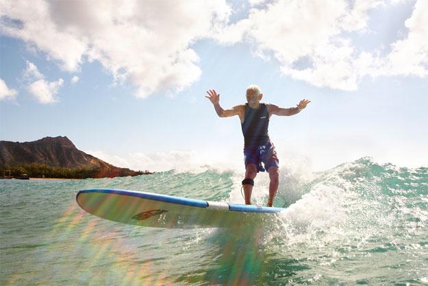 Dorian Doc Paskowitz surfs