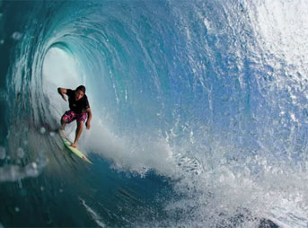 Barrels Surfing