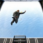 Mark Visser Skydives into Surf Operation Deep Blue