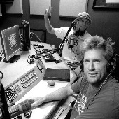 Bassy and Baldy in the studio every Sunday morning.