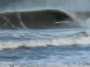 After an hour and a half drive from a less-than-ideal spot, we pulled up to well overhead sets and long, hollow barrels.