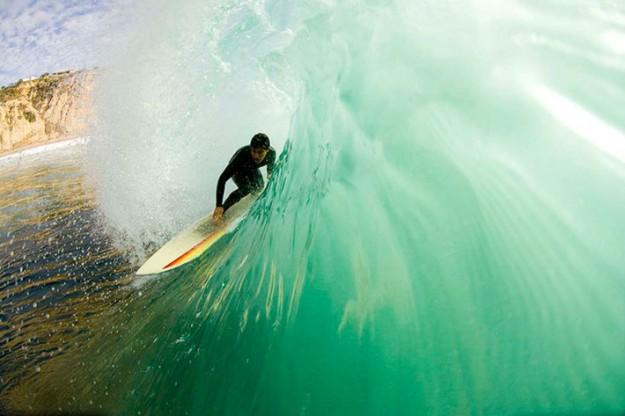Cyrus Sutton Surfing in San Diego