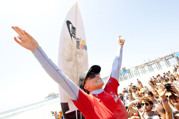 Lakey Peterson, your 2012 Women's U.S. Open of Surfing Champion. Photo: Lallande/usopenofsurfing.com
