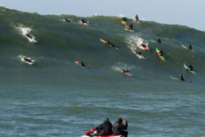 Behind the Scenes images from the making of Chasing Mavericks.