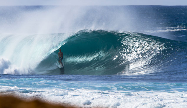 Jamie O'Brien at  Pipeline