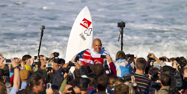 For the sake of competitive surfing as an entire paradigm, the time has come for him to take a bow. Photo: ASP