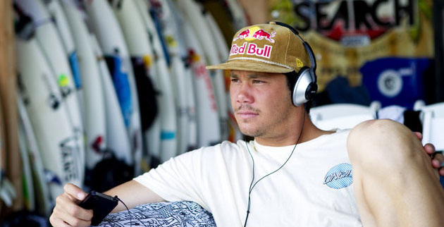 """When you see Jordy drinking from a Red Bull can, there is only Red Bull in there,"" said Jordy Smith's manager. Photo: ASP/Kirstin"