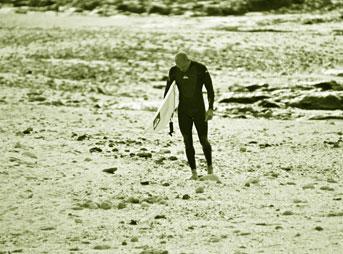 Kelly Slater on the Beach