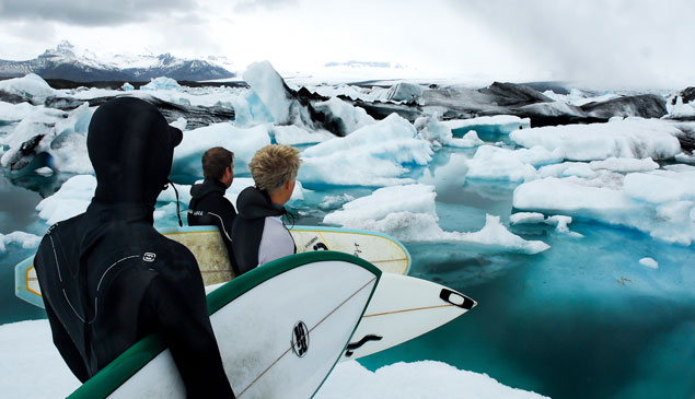 Snow Iceland Surfers Cold